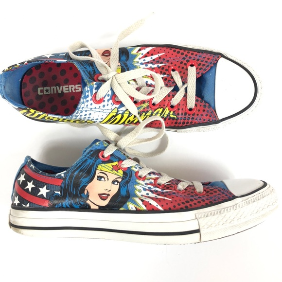 7264a99955a4 Converse Wonder Woman Low Top Shoes